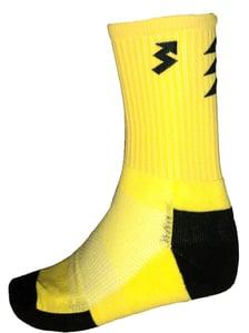Image of Neon Yellow crew socks