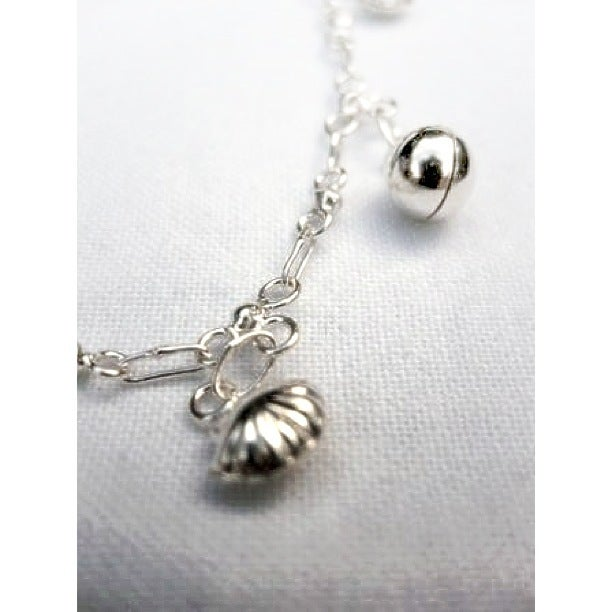 Image of Sterling Silver Shell Anklet