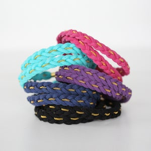 Image of Wide Double Braided Bracelet