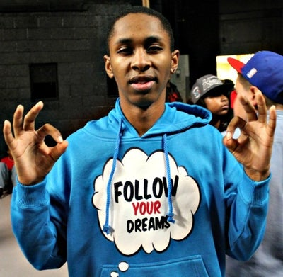Image of FOLLOW YOUR DREAMS BLUE  EXCLUSIVE SPONSOR  HOODIE