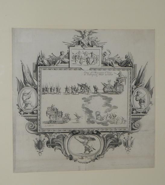 Image of Antique 17C Important Italian Engraving Print J Callot