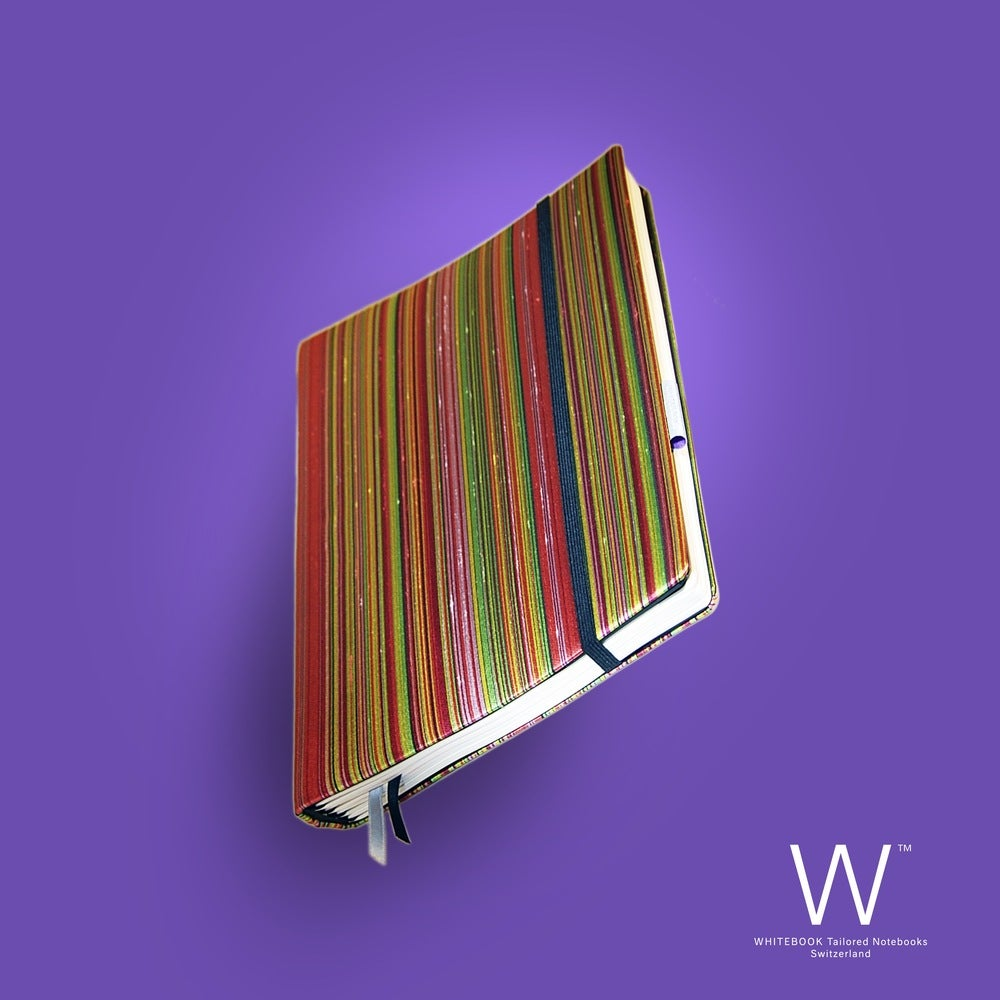 Image of Whitebook Haute Couture H001, colored stripes, pure silk, 240p. (fits iPad / Air / Mini / Samsung)