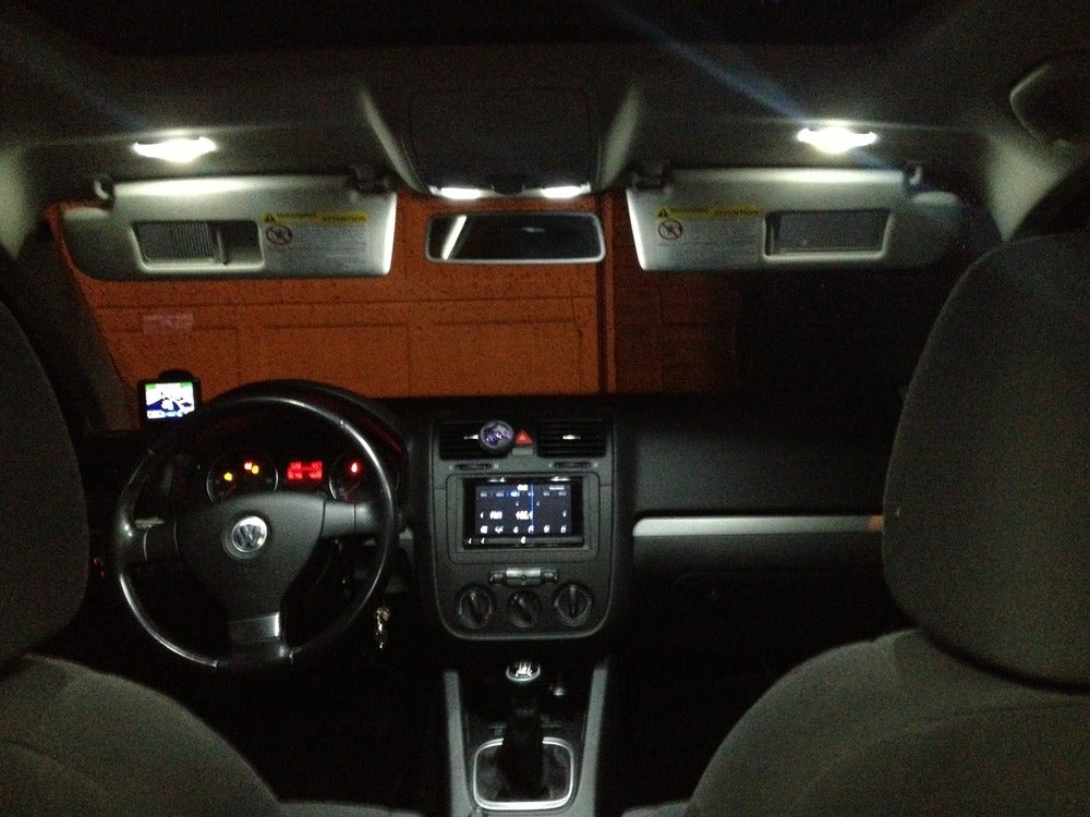 Image of Complete Interior LED Kit ERROR FREE Fits: Volkswagen MK6 Jetta all models