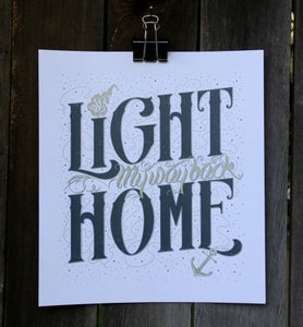 "Image of Art Print ""Light My Way Back Home"""