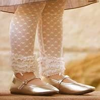 Image of Delicate Lacette Leg Warmers - Infant - Girl Size - Cream & Pink - Huggalugs - $11 OFF!