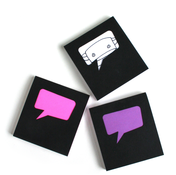 Image of Speech Bubble Sketch Paper Pad : 100 Sheets : Pack of 3