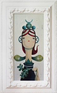 Image of The girl with eggplant - Original Painting