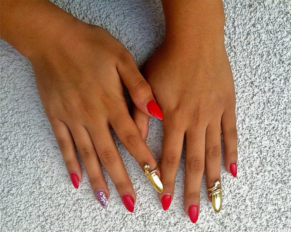 Image of Glossy Gold Nail Rings
