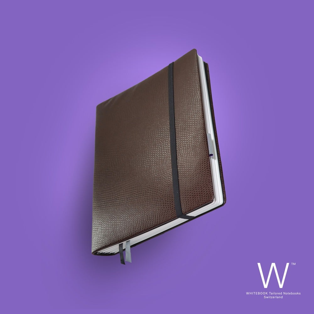 Image of WHITEBOOK PREMIUM P033w, calf nappa, lizard embossed