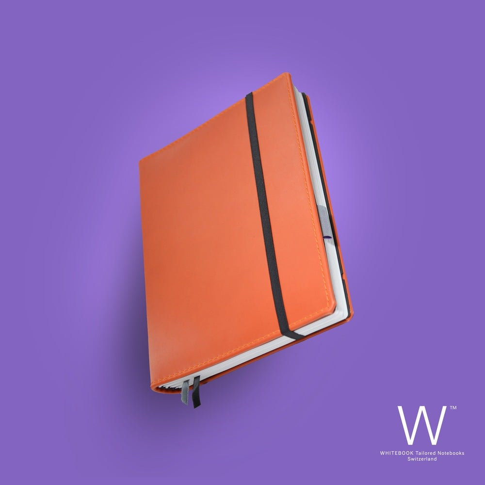 Image of Whitebook Premium, P036w, nappa leather, orange, welt-sewn, 240p. (fits iPad/Air/Mini / Samsung)