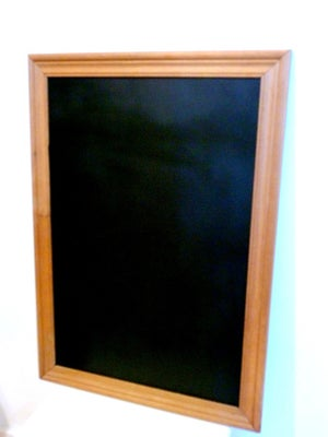 Chalkboard with Natural Brown Corrugated Frame