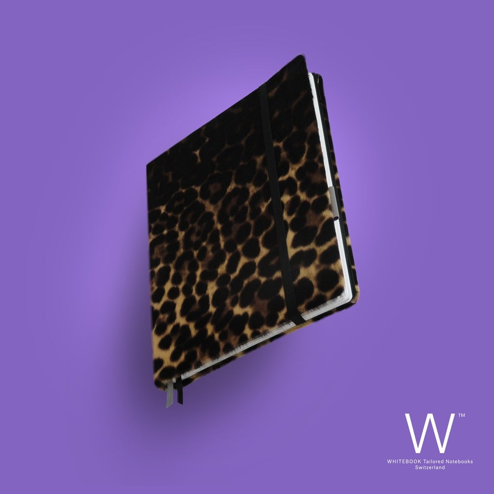 Image of Whitebook Collection A010, calf fur, Leopard, 240p. (fits iPad / Air / Mini / Samsung)
