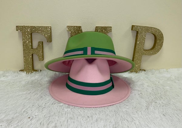 Image of Green/Pink elastic hat band