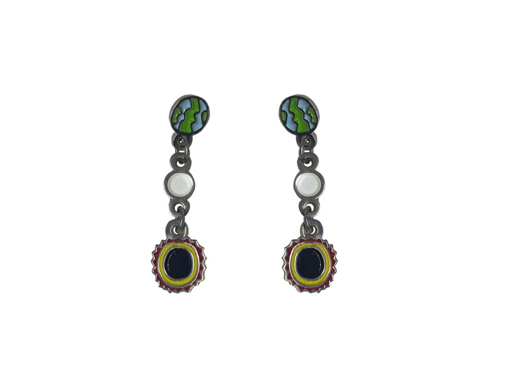 Image of Aretes Eclipse // Eclipse Earrings