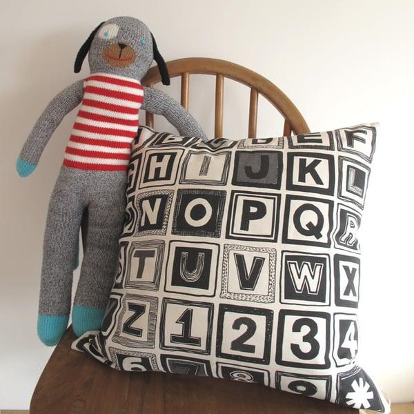 Image of Retro Alphabet Cushion