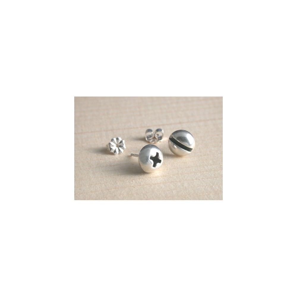 Image of round screw earrings