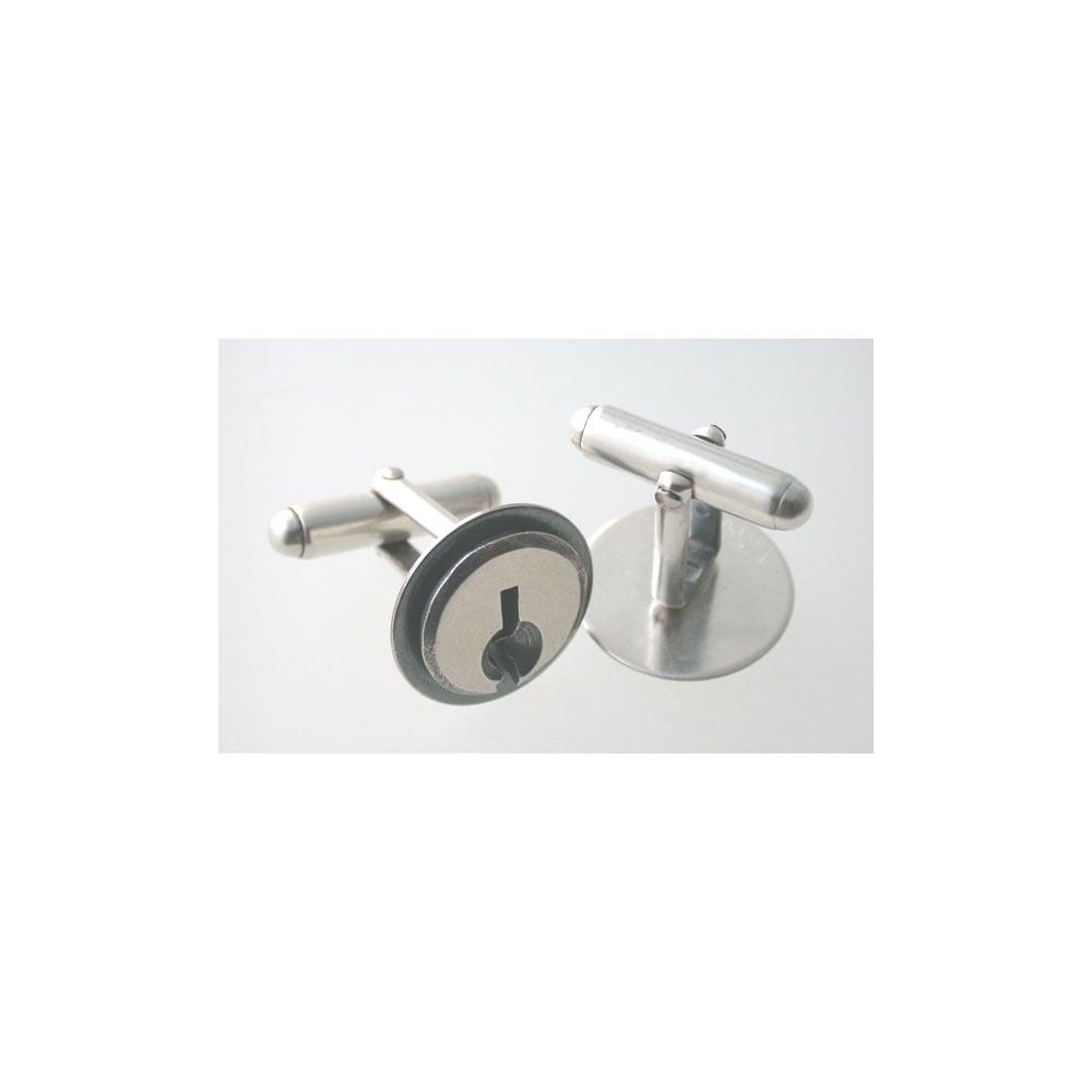 Image of keyhole cufflinks