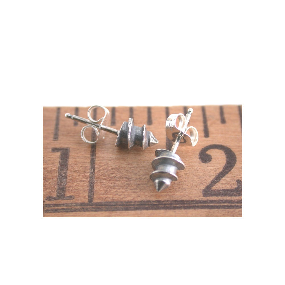 Image of screw tip earrings