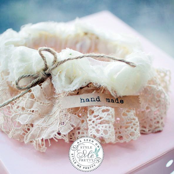 Crochet Wedding Garter: Vintage Lace Wedding Garter / Cedarwood Style Shop