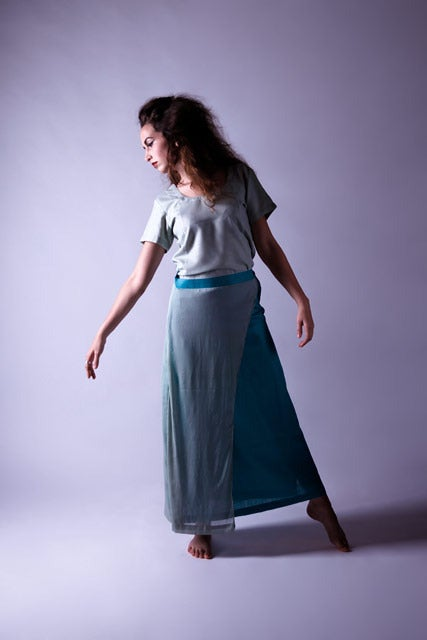 Image of Half layer maxi skirt