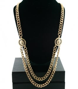 Image of Long Chain LionHead Link Necklace