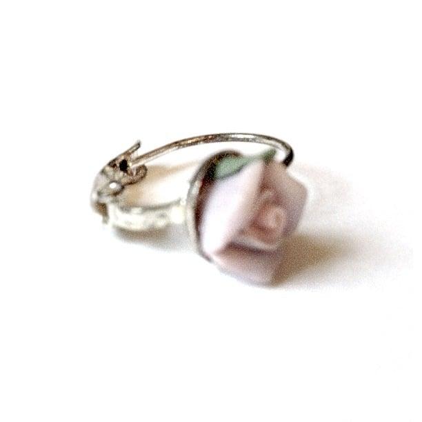 Image of Exclusive Ornate Rosebud Earrings