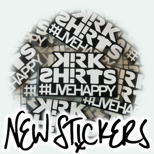Image of Kirk Shirts #livehappy Sticker