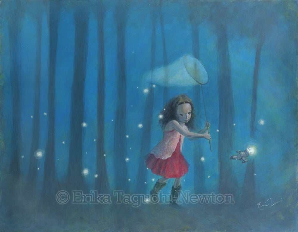 Catching Fireflies Art By Erika Taguchi Newton Ravengirl