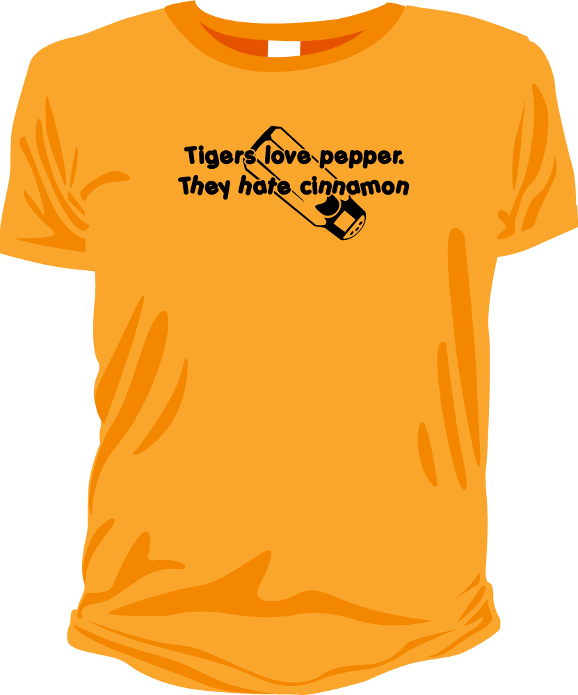 Image of Tigers love pepper (Hangover)