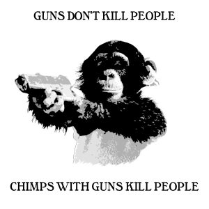 Image of PISTOLCHIMP (white)
