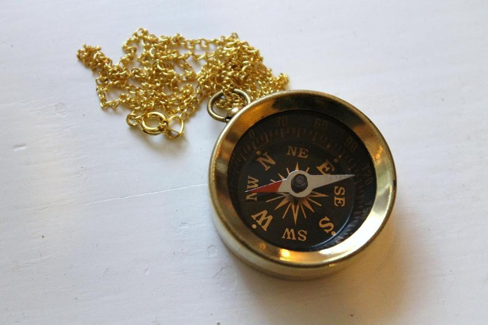 Image Of Vintage Compass Necklace Originally 32