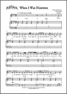 Image of When I Was Nineteen (Digital Sheet Music)