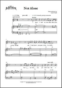 Image of Not Alone (Digital Sheet Music)