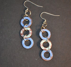 Image of Robin Egg and Bright Blue Earrings 2
