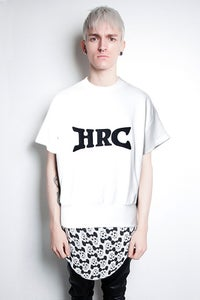 Image of HRC White Short Sleeve Sweatshirt