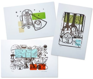 Image of Star Wars gocco print