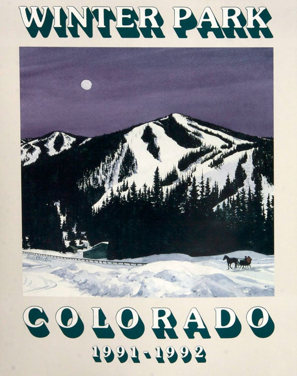 "Image of 1991-1992 Winter Park ""Moon Shadows"" Poster"