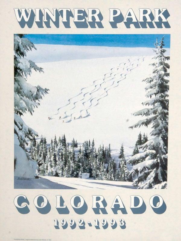 "Image of 1992-1993 Winter Park ""Parsenne Bowl"" Poster & notecard"