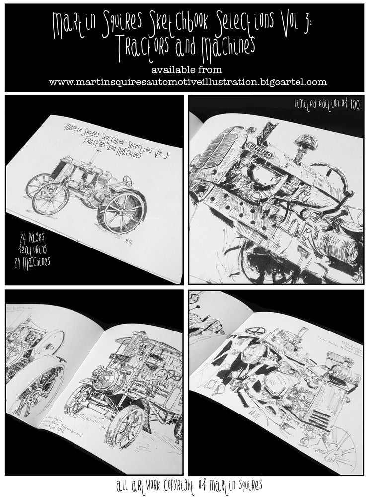 Image of Sketchbook Selections Vol 3: Tractors and Machines