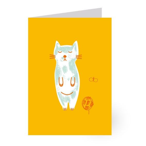 """Image of Carte à volet """"chat"""""""