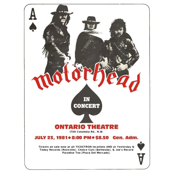 Image of MOTORHEAD TOUR (white)