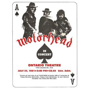 Image of MOTORHEAD TOUR (white)