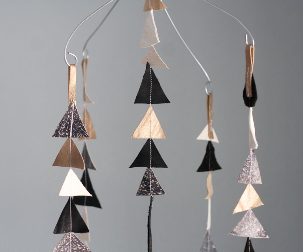 Image of The Leather Triangle Mobile in Gigi *limited edition