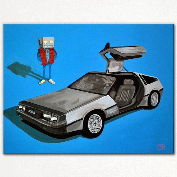DeLorean and me - Matt Q. Spangler Illustration