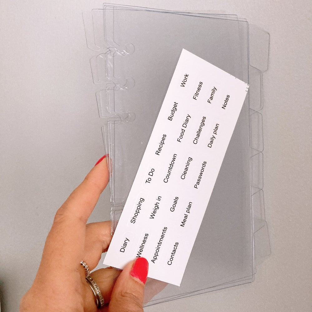 Image of PETITE PLANNER DIVIDERS 6 CLEAR DIVIDERS WITH STICKERS
