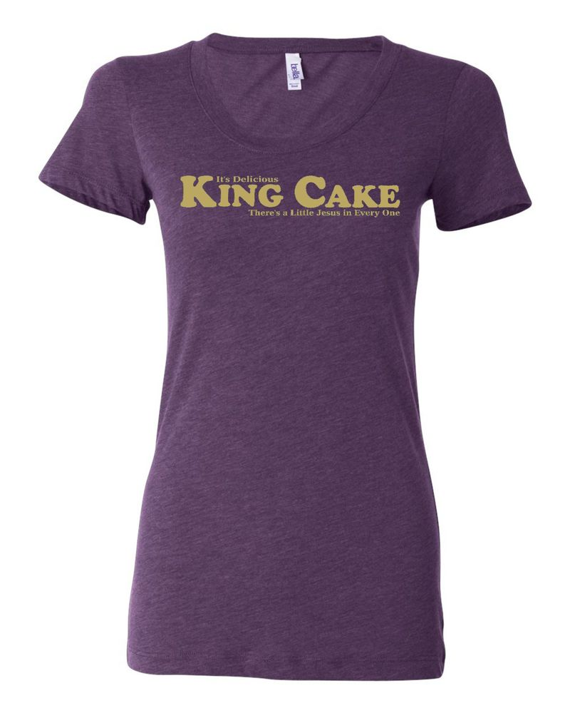 "Image of ""King Cake"" Ladies Tri-Blend"