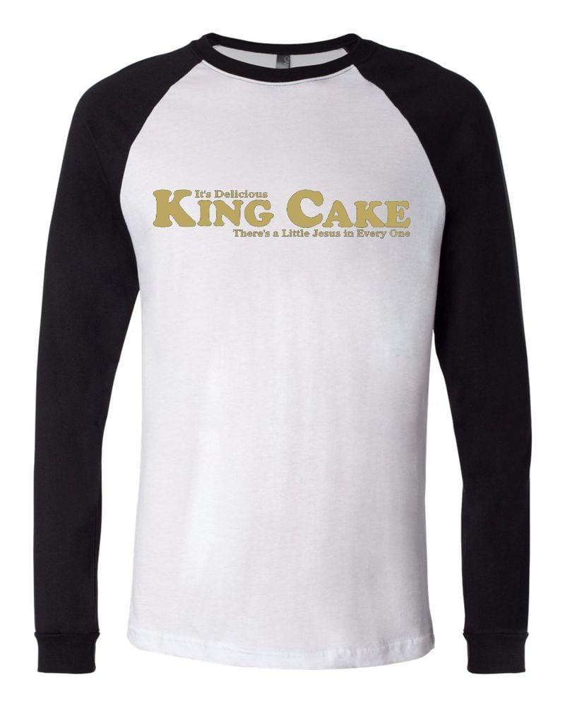 """Image of """"King Cake"""" Baseball Jersey Tee"""