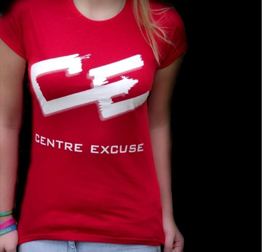Image of Centre Excuse Ladies Slim Fit T-Shirt