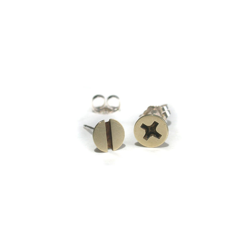 Image of small screw earrings