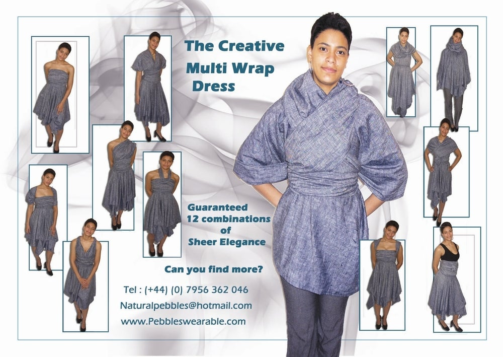 Image of Linen Multi-Wrap Dress